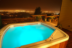 Jacuzzi with skyline